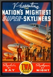 Super Skyliners Framed Canvas Print by Kerne Erickson