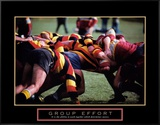 Group Effort: Rugby Framed Canvas Print