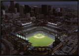 Coors Field - Denver, Colorado Framed Canvas Print by Mike Smith