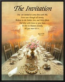 The Invitation Framed Canvas Print by T. C. Chiu