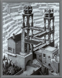 Waterfall Framed Canvas Print by M. C. Escher