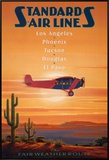 Standard Airlines, El Paso, Texas Framed Canvas Print by Kerne Erickson