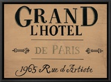 Grand l'Hotel Framed Canvas Print