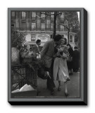Paris, 1950 Framed Canvas Print by Robert Doisneau
