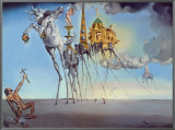 The Temptation of St. Anthony, c.1946 Framed Canvas Print by Salvador Dalí