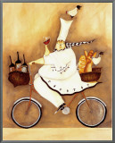 Chef To Go Framed Canvas Print by Jennifer Garant