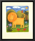Leo the Lion Framed Canvas Print by Sophie Harding