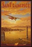 Western Air Express, São Francisco, Califórnia Impressão em tela emoldurada por Kerne Erickson