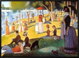 Sunday Afternoon on the Island of la Grande Jatte, c.1886 Framed Canvas Print by Georges Seurat