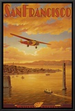 Western Air Express, San Francisco, California Framed Canvas Print by Kerne Erickson