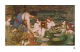 Hylas et les nymphes Affiches par John William Waterhouse