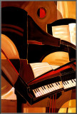 Abstract Piano Framed Canvas Print by Paul Brent