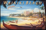 Waikiki Beach Framed Canvas Print by Kerne Erickson