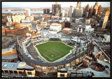 Comerica Park - Detroit, Michigan Framed Canvas Print by Mike Smith