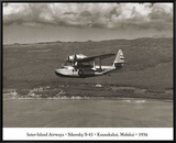 Inter-Island Airways, Sikorsky S-43, Kaunakakai, Molokai, Hawaii, 1936 Framed Canvas Print