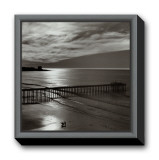 The Scripps Pier, 1966 Framed Canvas Print by Ansel Adams