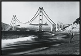 Golden Gate Fishermen, San Francisco Framed Canvas Print