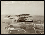 Dormier Do-X, in Flight over Norfolk, Virginia, 1931 Framed Canvas Print