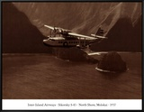 Inter-Island Airways, Sikorsky S-43, Kaunakakai, Molokai, Hawaii, 1937 Framed Canvas Print