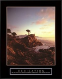 Dedication: Lone Cypress Framed Canvas Print