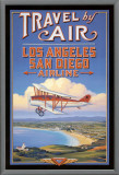 Travel by Air Framed Canvas Print by Kerne Erickson
