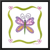 Lovebugs, Butterfly Framed Canvas Print by Tania Schuppert