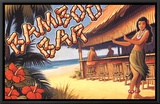 Bamboo Bar, Hawaii Framed Canvas Print