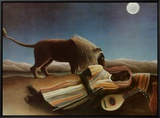 Sleeping Gypsy, 1897 Framed Canvas Print by Henri Rousseau