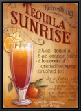 Tequila Sunrise Framed Canvas Print by Lisa Audit