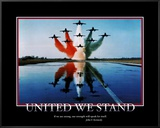 Patriotic United We Stand Framed Canvas Print