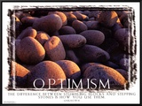 Optimism Framed Canvas Print