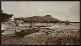 In Front of Outrigger Canoe Club, Waikiki Beach, Hawaii, 1917 Framed Canvas Print