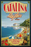 Catalina by Air Framed Canvas Print by Kerne Erickson
