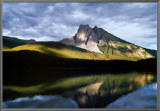 Vision: Mountain Reflection Framed Canvas Print