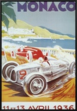 8th Grand Prix Automobile, Monaco, 1936 Framed Canvas Print by Geo Ham