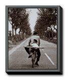 France Framed Canvas Print by Elliott Erwitt