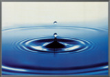 Action: Drop of Water Framed Canvas Print