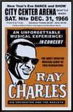 Ray Charles at the City Center Arena, Seattle, 1966 Framed Canvas Print by Dennis Loren