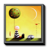 Dreaming Framed Canvas Print by Jo Parry