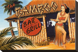 Bamboo Bar and Grill, Hawaii Stretched Canvas Print