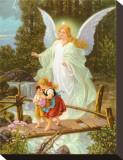Heilige Schutzengel Stretched Canvas Print