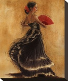 Flamenco Dancer II Stretched Canvas Print by Caroline Gold