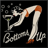Bottoms Up Framed Canvas Print