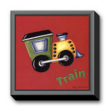 Train Framed Canvas Print by Kathy Middlebrook