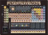 Periodic Table Chart - Spaceshots Stretched Canvas Print