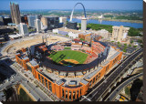 Busch Stadium Stretched Canvas Print by Mike Smith
