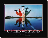 Patriotic United We Stand Stretched Canvas Print