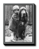 Girl's Best Friend Framed Canvas Print