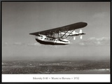 Sikorsky S-40, Miami to Havana, 1932 Framed Canvas Print by Clyde Sunderland