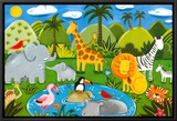 Jungle Fun Framed Canvas Print by Sophie Harding